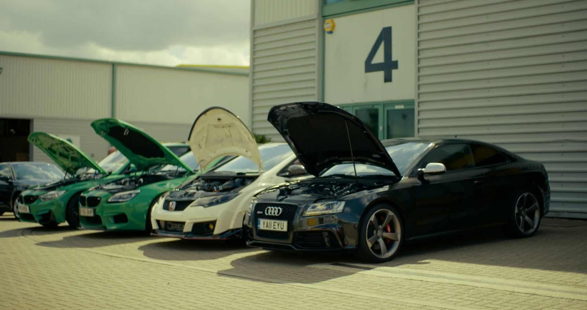 Bilar av olika märken