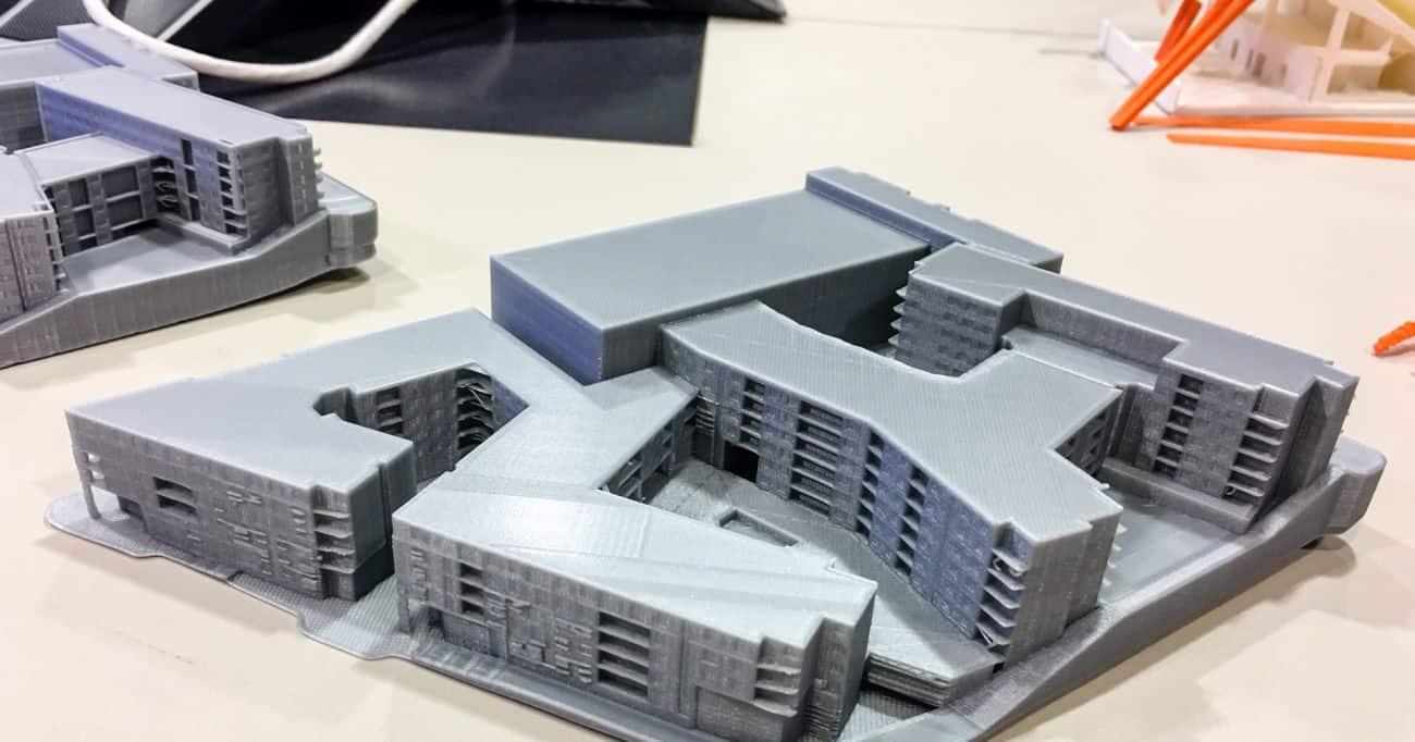 3D printad arkitektmodell