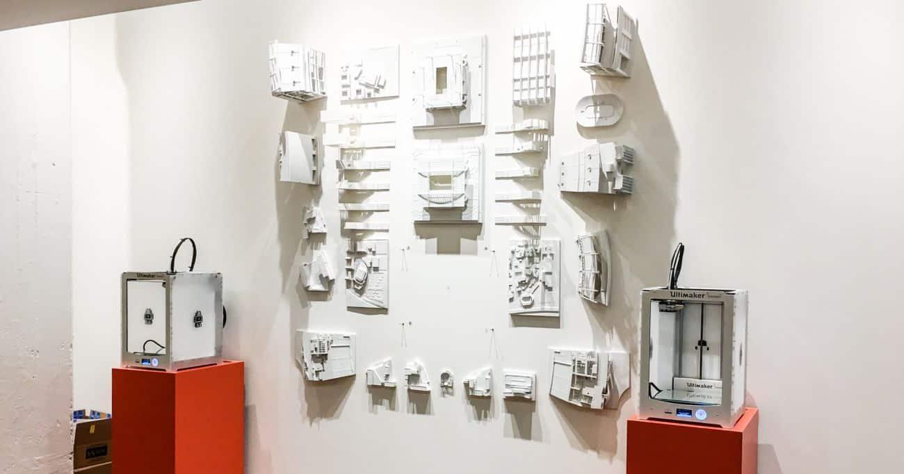 Väggdesign med 3D printade modeller