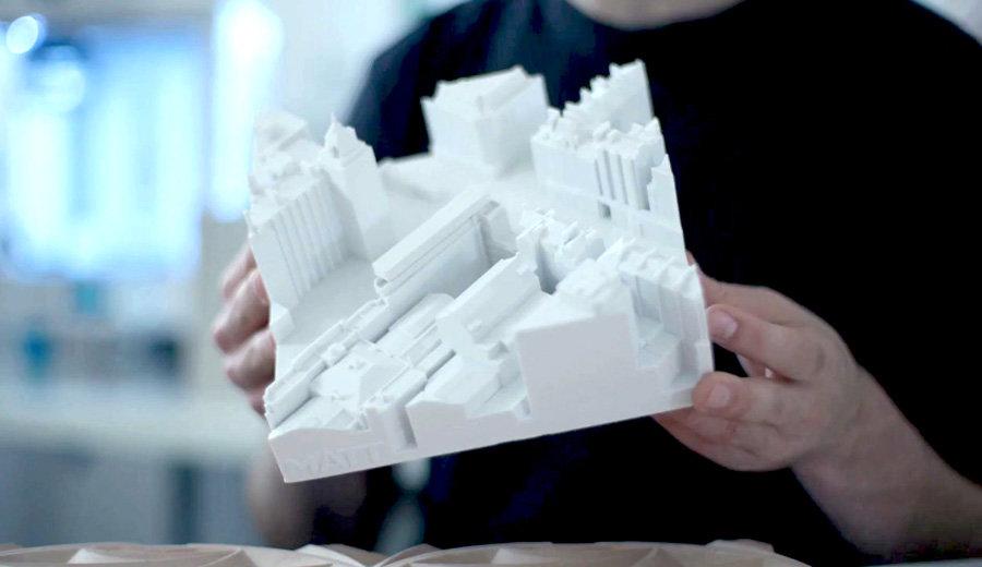 3d-utskriven arkitekturmodell