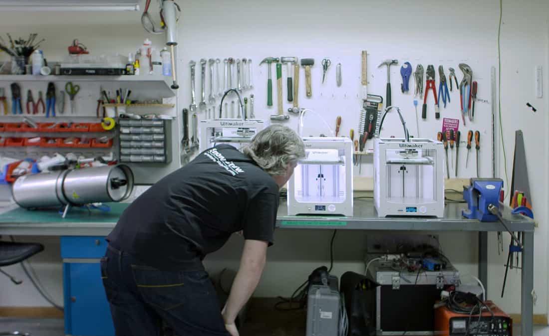 3d-skrivare i verkstadsmiljö