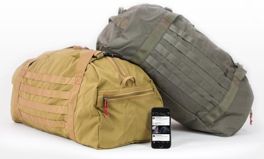 Two Duffler Bags and smart phone