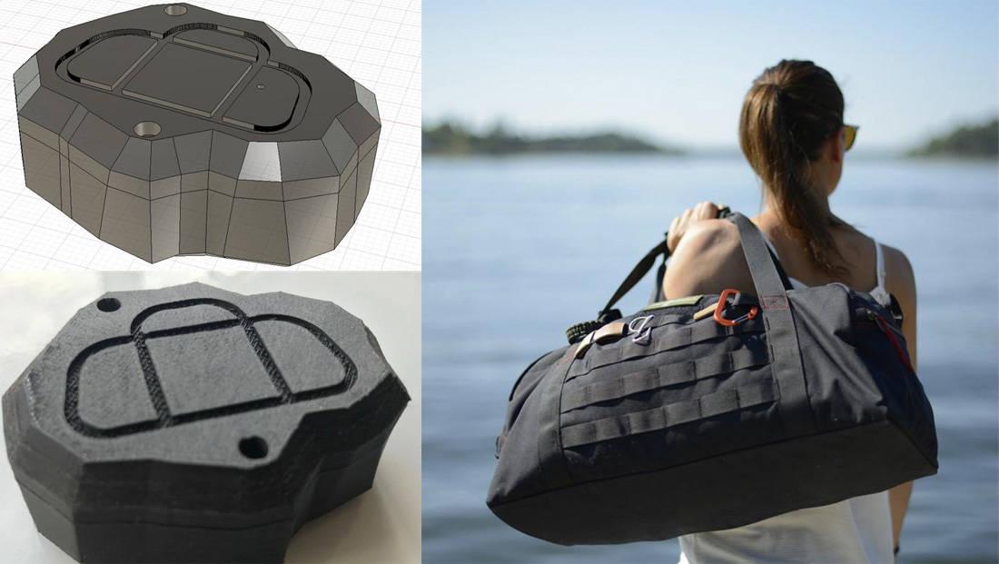 Duffler Bags and 3d printed beacon casing